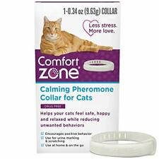 Comfort Zone Cat Calming Pheromone Collar, Anxiety and Stress Relief Aid, Breaka