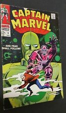 CAPTAIN MARVEL# 8 1968 EARLY CAROL DANVERS MARVEL COMIC STAN LEE and DON HECK