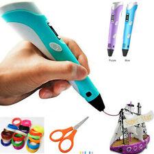 3D-Druckstift 3D Stereoscopic Printing Pen Für Kinder & Erwachsene Geeignet Neu!