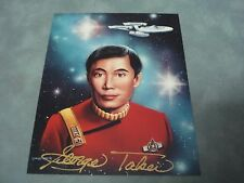 AUTHENTIC STAR TREK **GEORGE TAKEI** AUTOGRAPHED 4X5 PHOTO COA