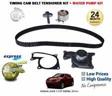 FOR NISSAN JUKE 1.5 DT DIESEL 2010--> TIMING CAM BELT TENSIONER KIT + WATER PUMP