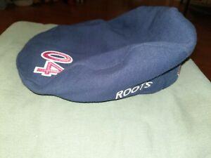 Roots Olympics Team USA 2004 Athens Navy Beret Cabbie Hat Cap S/M