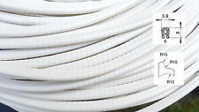 KS0-1W Kantenschutz PVC Gummi Profil Dichtung für Blech weiß 0,5-1mm