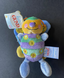 Baby Gund Buggy Giggles Activity Toy Butterfly NWT Squeeze For Silly Sounds