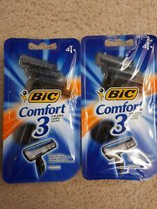 bic comfort 3 razors 3 Blades Each, 4 Razors, Sensitive Skin, Lubricating Strip