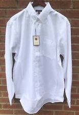 $70 RED HOUSE MENS WHITE CLASSIC OXFORD COTTON DRESS SHIRT 3XLT 3XL XXXL TALL