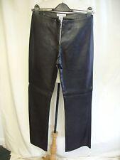 "Ladies Trousers Warehouse UK 8 black PVC, waist 26"" inside leg 31"" straight 7545"