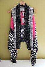 NWT Diane Von Furstenberg Optic Plaid Short Serape Silk Shawl Scarf O/S $298