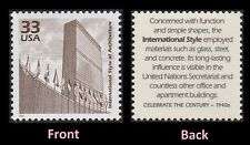 SCOTT t# 3186k - ONE 33 CENT INT'L STYLE OF ARCHITECTURE -  U N BUILDING  - MNH