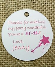 15x Princess Fairy Theme Birthday Tags Labels Magic Wand Party Favour Decoration
