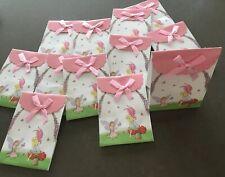 12 X Brand New Fairy Design Gloss Gift Box/Bag White/Pink Velcro Fastening