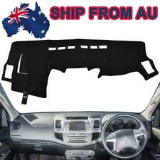 BLACK DASH MAT for TOYOTA Hilux 150 Series SR5 SR KUN26R 2/2005-6/2015