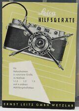 Leica Hilfsgeräte Brochure en Allemand / Deutsch 8 pages 1954