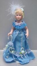 Dollhouse Miniature Victorian Porcelain Lady in Blue