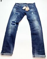Men's 100% Authentic Royal 7even Ripped Jeans Size 34x32 Color Dark Blue