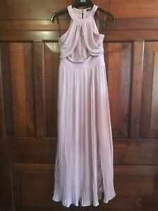 TFNC Bridesmaid Dress 8 Pink Pleated Maxi Party Prom Cruise ASOS