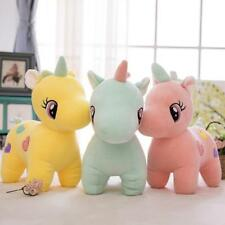 Cute Unicorn Plush Fluffy Stuffed Animal Lovely Cartoon Doll Toys Baby Kids Gift