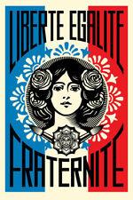 Lithographie SHEPARD FAIREY ( Obey ) - Liberté Egalité Fraternité - SIGNED