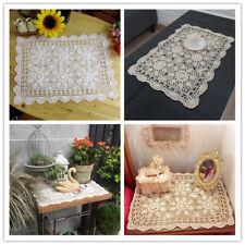 Vintage Rectangle Cotton Crochet Lace Table Cloth Small Tablecloth 40x60cm