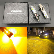 NEW 2x H1 3000K Amber Yellow 100W High Power CREE LED Fog Light Driving Bulb DRL