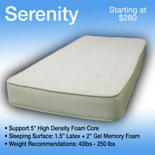 38 x 80 SERENITY----LUXURIOUS TRUCK MATTRESS----FITS ANY MAKE AND MODEL