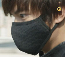 Black 2pcs Health Cycling Anti-dust Cotton Mouth Face Respirator Unisex Mask U