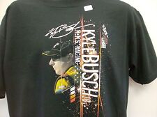 Kyle Busch M & M's Chase Authentic's T- Shirt Size XL Black Camber Ship