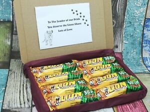 Fathers Day Personalised 'Lions Share' Gift Lion Bar Chocolate Birthday Box