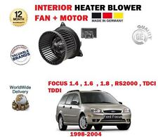 FOR FORD FOCUS + RS2000 ST170 1998-2004 NEW INTERIOR FAN HEATER BLOWER MOTOR