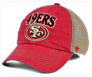 San Francisco 49ers NFL 47 Brand Mesh Back Trucker Clean Up Snapback hat cap