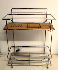 Neat&Tidy 2 Tier Rack Storage Shelf Chrome Pantry Organiser Bathroom Kitchen