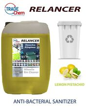 Wheelie Bin Cleaner 25L Relancer Anti-Bacterial Sanitizer LEMON PISTACHIO