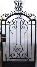 Pedestrian Gate Wrought Iron Adjustable 1.0m to 1.1m opening, 2.2m high In Stock