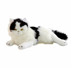 "Woodrow the Cat Kitten Soft Plush Toy 13""/33cm Black and White Bocchetta Plush T"