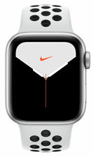 Apple Watch Series 5 Nike 40mm Silver Aluminum Case with Pure Platinum/Black...