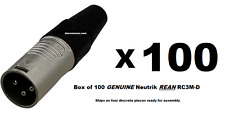 100 REAN RC3M XLR Male Plug 3 Pin Ships FREE to ALL US Zip codes