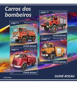 Guinea-Bissau Fire Engines Stamps 2020 MNH Renault DAF IVECO Trucks 4v M/S