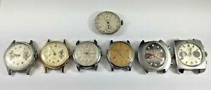Vintage Chronograph Watch Lot, For Parts or Repair, Valjoux, Landeron, Etc.
