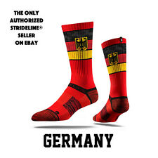 Strideline® S Collection, Germany Flag Crew Socks NEW
