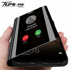 Smart Mirror Flip Mobile Phone Case For Xiaomi Mi Clear View Cover Redmi Note