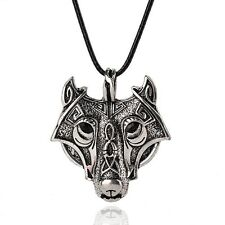 Norse Vikings Pendant Necklace Norse Wolf Head Necklace Original Animal Jewelry