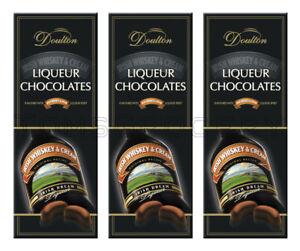3 x Doulton IRISH WHISKEY & CREAM LIQUEUR Filled Chocolates Candy Box 145g 5.1oz