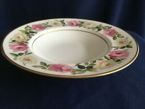 """Royal Worcester royal Garden Elgar 9 1/4"""" rimmed soup bowl -very minor scratches"""