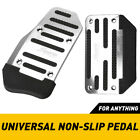 2 Non-slip Automatic Gas Brake Foot Pedal Pad Cover Car Replace Parts Silver New