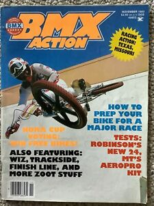 Vintage BMX Action Magazine November 1983 Volume 8 #11 ROBINSON