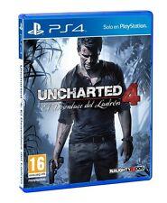 Uncharted 4 El Desenlace Del Ladron PS4 CASTELLANO NUEVO ESPAÑOL PRECINTADO PAL