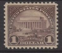 US Stamps #571 MINT VLH 1$ GEM! JUMBO MARGINS With Near PERFECT CENTERING!!