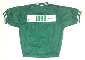 LARRY BIRD SIGNED PRO STYLE WARM UP SHOOTING JACKET/SHIRT BECKETT COA