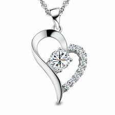 STERLING SILVER NECKLACE Heart Pendant Infinity Love Valentines Day Gift For Her
