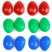 12PCS Plastic Drums Musical Eggs Percussion Maracas Shakers Instruments US